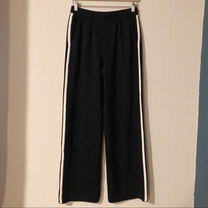 St. John black with white stripes knit pants